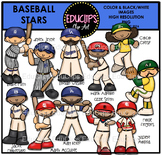 Baseball Stars Clip Art Bundle
