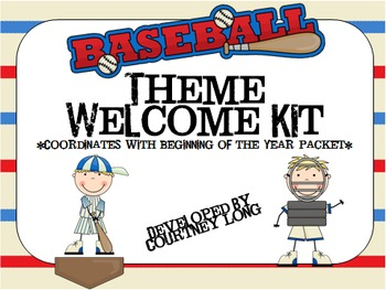 Baseball Theme Welcome Pack