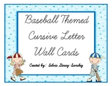 Baseball Themed Cursive Wall Cards