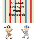Baseball Themed Dolch Pre-primer Flashcards