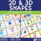 Basic &amp; 3D Geometric Shape Posters Pack