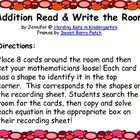 Basic Addition Read & Write the Room Freebie!