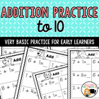 Basic Addition Worksheets- Set 1