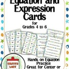 Basic Algebra: Equation and Expression Cards Group Activit