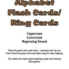 Basic Alphabet Ring Cards - Upper Case, Lower Case and Beg