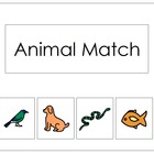 Basic Animal Matching File Folder Game