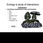 Basic Ecology & Ecosystems