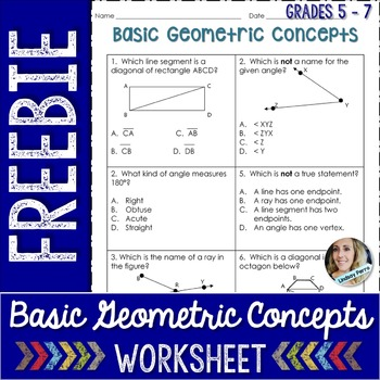 Basic Geometric Concepts Worksheet