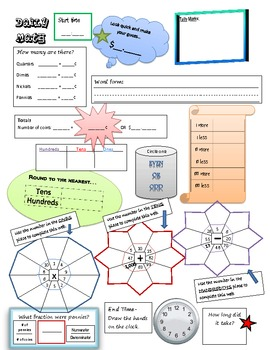 Basic Math Concepts Daily Worksheet