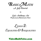 Basic Math: Lesson 2 - Equalities &amp; Inequalities