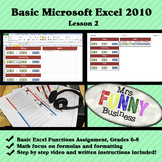 Basic Microsoft Excel with Video Lesson 2 of 3