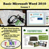 Basic Microsoft Word with Video Lesson 3 of 3