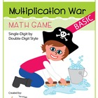 Basic Multiplication War - A Game of Single-Digit by Doubl