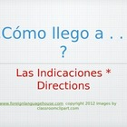 Basic Spanish Directions Power Point