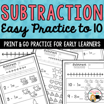 Basic Subtraction Worksheets- Set 1