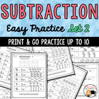Basic Subtraction Worksheets- Set 2