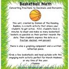 Basketball Math-Fractions, Decimals, and Percents