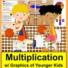Basketball Multiplication Math Centers- 3 Ways To Play - 1
