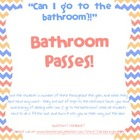 Bathroom Pass Slips - 8 Font Styles