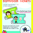 Bathroom Pass Tickets