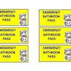 Bathroom Pass for Emergencies