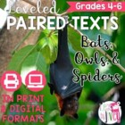 Bats, Owls, and Spiders Paired Texts Grades 4-8 (Construct