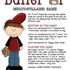 Batter Up (Multi-Syllabic) Game