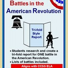 Battle of the American Revolution:  Tri-fold Research Activity