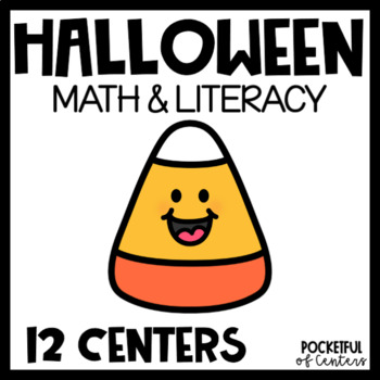 Batty Over Halloween Math & Literacy Work Stations
