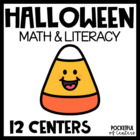 Halloween Math and Literacy Centers {BUNDLE}