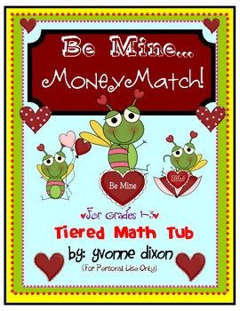 Be Mine Money Match Tiered Math Tub