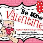 Be Mine Valentine {Math and Literacy Centers}