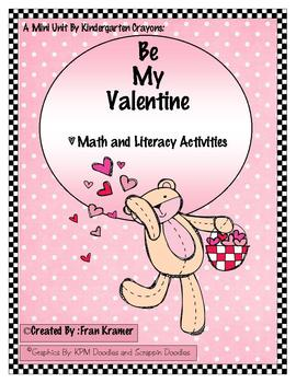 Be My Valentine Math and Literacy Activities