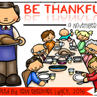 Be Thankful: A November Math/Literacy Unit