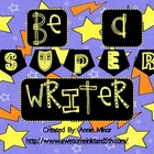 Be a SUPER Writer! Classroom Display