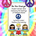 Be the Change! Student Reminder Cards Inspired by theTeach