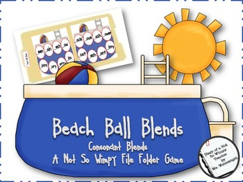 Beach Ball Blends: A Not So Wimpy File Folder Game (conson