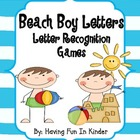 Beach Boy Letter Matching and Recognition Activities