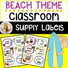 Beach Classroom Supply Labels