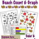 Beach Count &amp; Graph  - Common Core Measurement &amp; Data