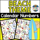 Beach / Ocean Theme Calendar Numbers