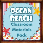 Beach Ocean Themed Classroom Materials Pack