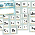 Beach Ocean Themed Word Wall Labels
