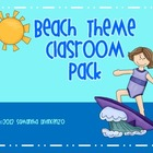 Beach Theme Classroom Pack