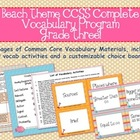 Beach Theme Grade Three CCSS Complete Vocabulary Program