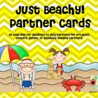 Beach Theme Partner Cards