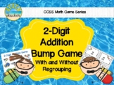 Beach Themed 2 Digit Addition With Regrouping Bump Game