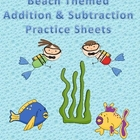 Beach Themed Addition &amp; Subtraction Practice Book