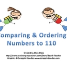 Beach Themed Comparing and Ordering Numbers to 110