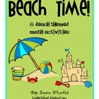 Beach Time! {6 Beach Themed Math Activities}